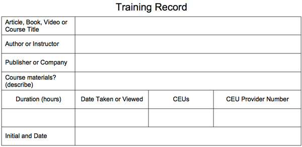 Training Record  Palladium Education Inc